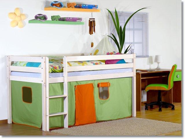 Etagenbett Kiefer Weiß : Kinder etagenbett hochbett kiefer weiß rollrost bettkasten