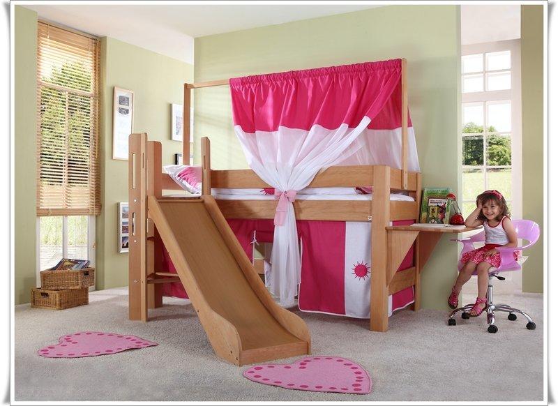 Etagenbett Kinder Rutsche : Etagenbett sky kinderbett mit rutsche spielbett bett weiß stoffset