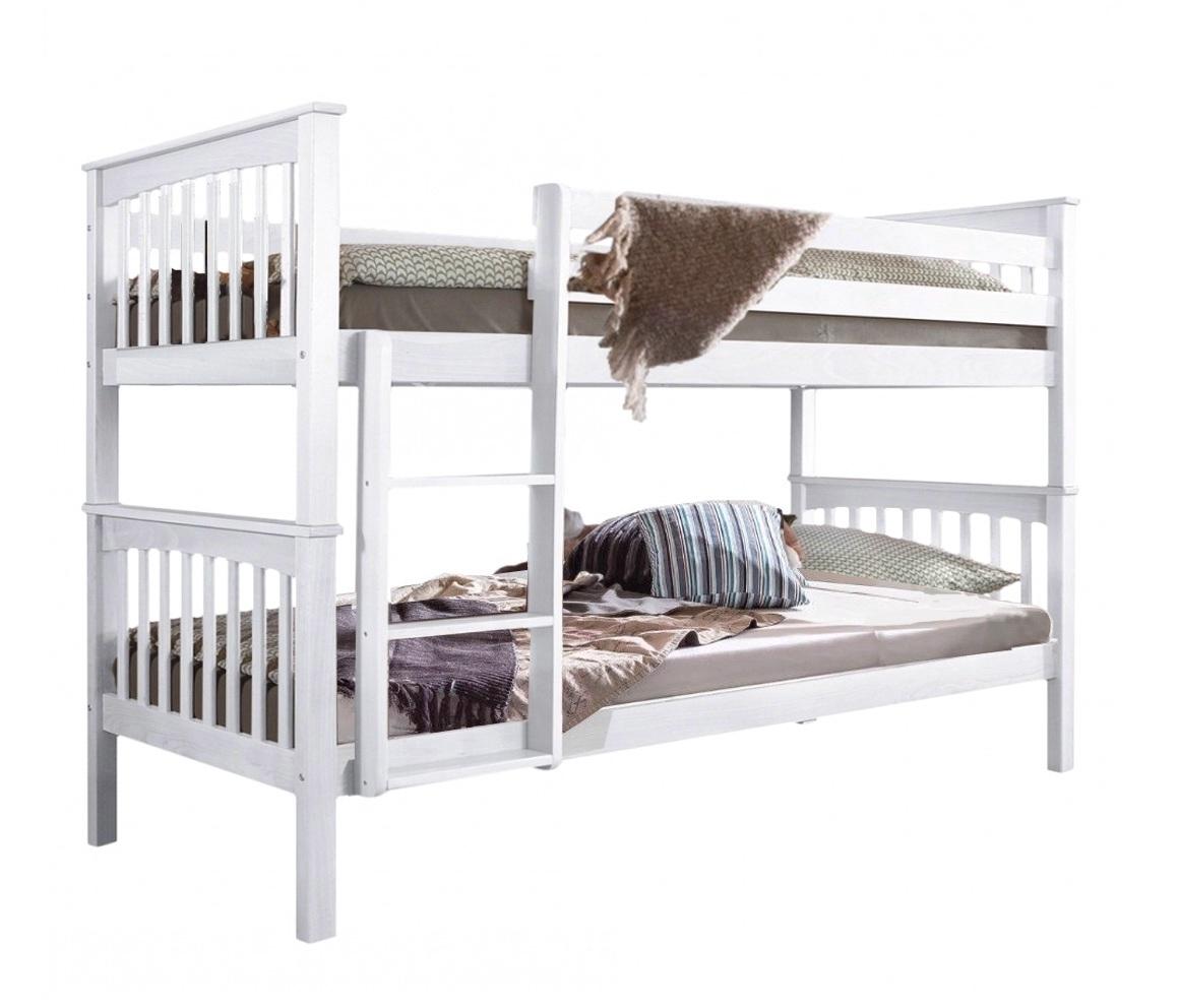 relita wicky etagenbett hochbett massiv buche wei. Black Bedroom Furniture Sets. Home Design Ideas