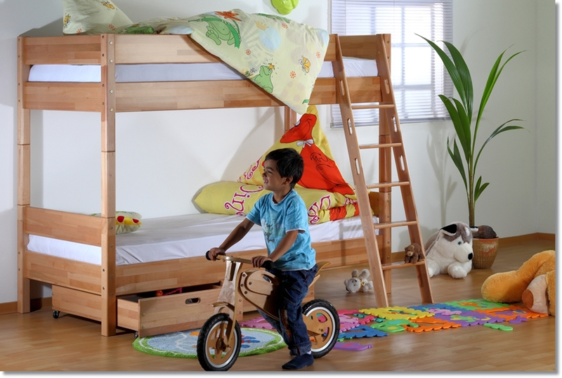 Etagenbett Relita : Relita stefan etagenbett kinderbett buche klar lackiert teilbar