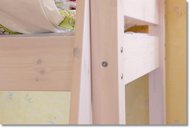 etagenbett hochbett massiv kiefer wei lackiert lattenrollrost matratze r2054wksven. Black Bedroom Furniture Sets. Home Design Ideas