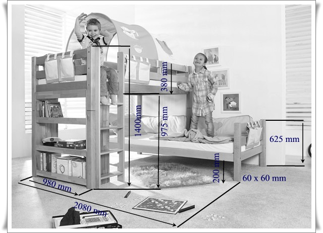 Etagenbett Umbaubar In 2 Einzelbetten : L bett etagenbett massiv buche weiß lackiert r2024 blauboy