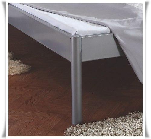 Metallbett 140x200 silber  Lido Doppelbett Metallbett Silber Neu 140 x 200 - Mystylewood24 Möbel