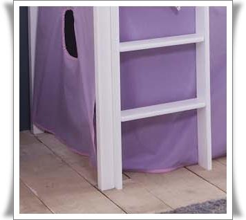hochbett mit rutsche kiefer weiss ohne turm. Black Bedroom Furniture Sets. Home Design Ideas